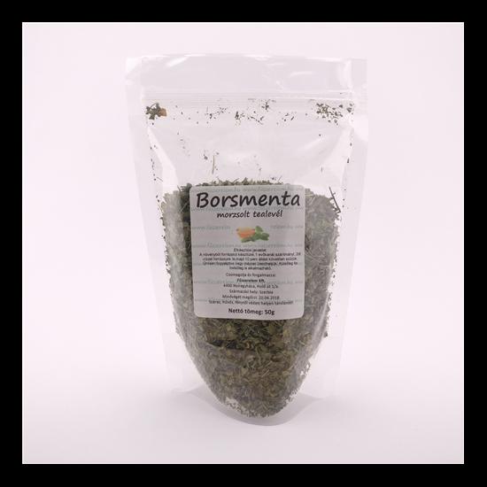 Borsmentalevél, vágott tea 50g